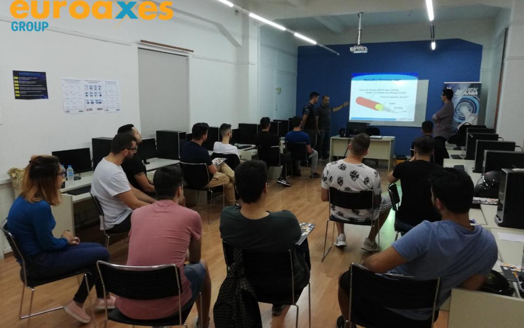 IEK ΑΛΦΑ & Euroaxes – Εκπαίδευση σπουδαστών σε θέματα τεχνολογίας οπτικών δικτύων και FTTH